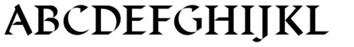 Displace Serif Semi Bold Font UPPERCASE