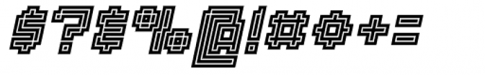 Displacement Density Italic Font OTHER CHARS