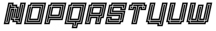 Displacement Density Italic Font LOWERCASE