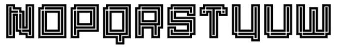 Displacement Density Font LOWERCASE