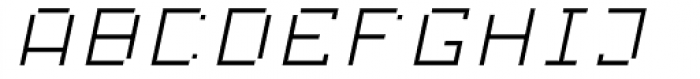 Displacement Mass Italic Font LOWERCASE