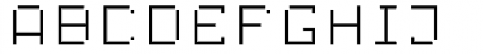 Displacement Mass Font LOWERCASE