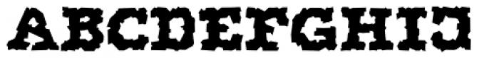 Display Brutal Regular Font UPPERCASE