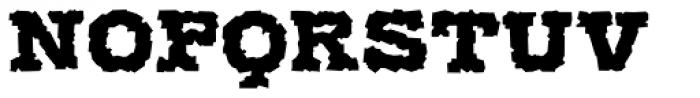 Display Brutal Regular Font LOWERCASE