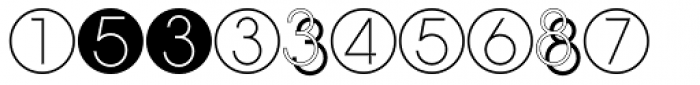 Display Digits Eight Font UPPERCASE