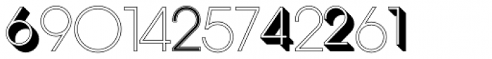 Display Digits Eight Font LOWERCASE