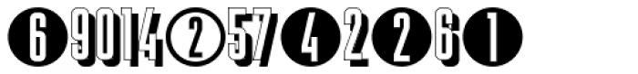 Display Digits Five Font UPPERCASE
