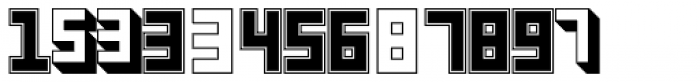 Display Digits Four Font LOWERCASE