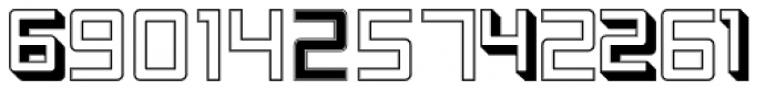 Display Digits One Font LOWERCASE
