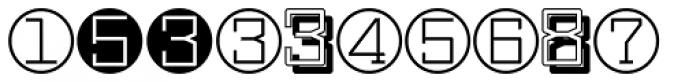 Display Digits Seven Font UPPERCASE