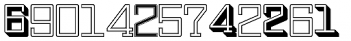 Display Digits Seven Font LOWERCASE