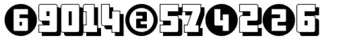 Display Digits Six Font UPPERCASE