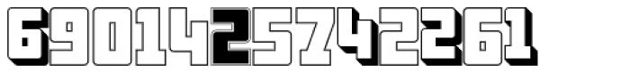 Display Digits Six Font LOWERCASE