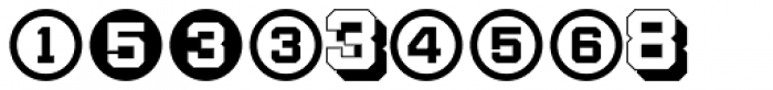 Display Digits Two Font UPPERCASE