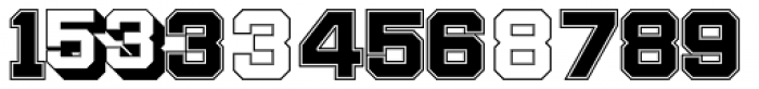 Display Digits Two Font LOWERCASE