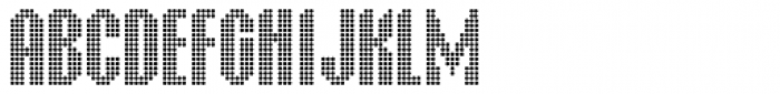 Display Dots Five Font LOWERCASE
