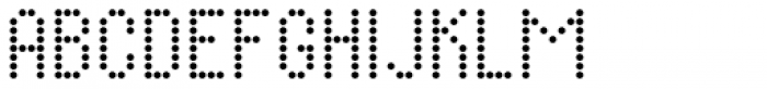 Display Dots Four Sans Font LOWERCASE