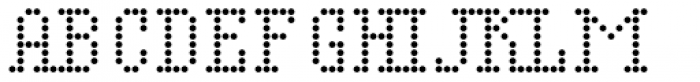Display Dots Four Serif Font LOWERCASE