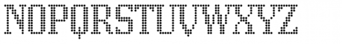 Display Dots One Font UPPERCASE