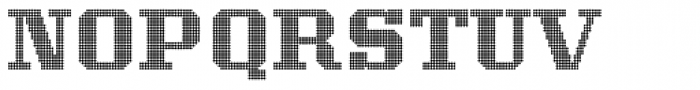Display Dots Seven Font UPPERCASE