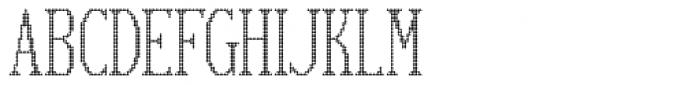 Display Dots Six Font UPPERCASE