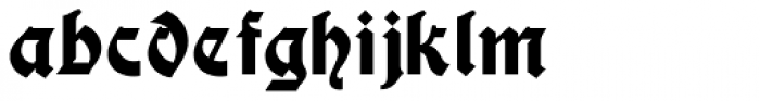 Display Gothic Font LOWERCASE