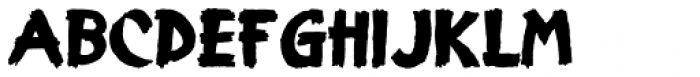 Display Grungy Font LOWERCASE