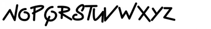 Display Haphazard Font LOWERCASE
