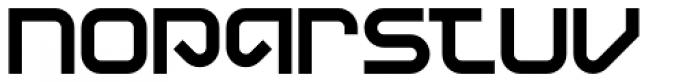 Display Uncanny Font UPPERCASE