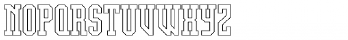 Display University Font LOWERCASE