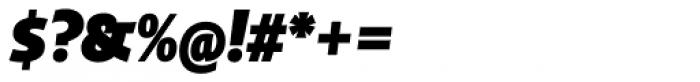Distefano Sans Black Italic Font OTHER CHARS