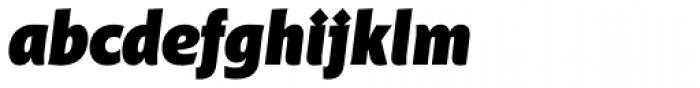 Distefano Sans Black Italic Font LOWERCASE