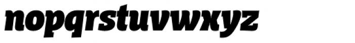 Distefano Slab Black Italic Font LOWERCASE