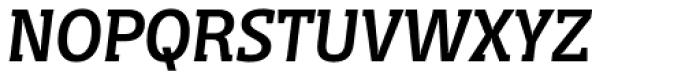 Distefano Slab Italic Font UPPERCASE