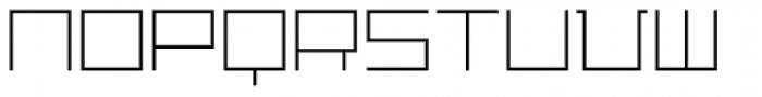 Distill Thin Font UPPERCASE
