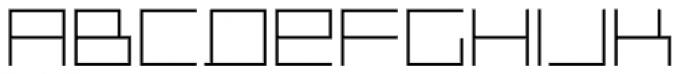 Distill Thin Font LOWERCASE