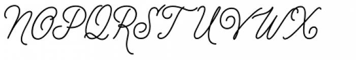 Distillery Script Font UPPERCASE