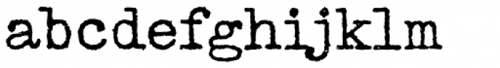 Distressed Telegraph Font LOWERCASE