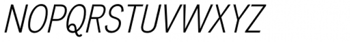 Divulge Cond Light Italic Font UPPERCASE
