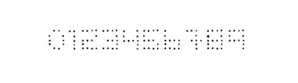 Dinkydot Regular Font OTHER CHARS