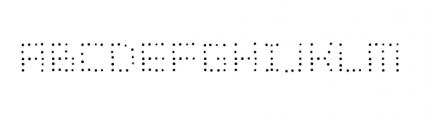 Dinkydot Regular Font UPPERCASE