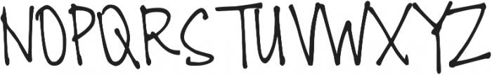 DJB All Cool Chicks ttf (400) Font UPPERCASE