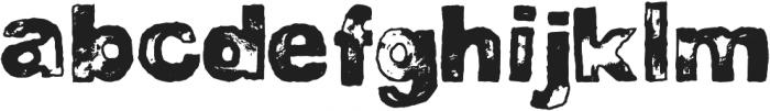 DJB BAD STAMP JOB 1 ttf (400) Font LOWERCASE