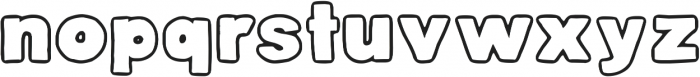 DJB Belly Button-Outtie ttf (400) Font LOWERCASE