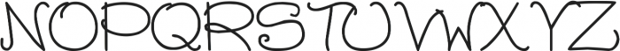 DJB Chubby Muffins ttf (400) Font UPPERCASE