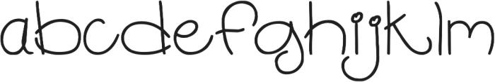 DJB Chubby Muffins ttf (400) Font LOWERCASE