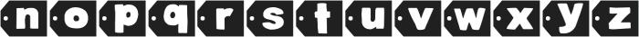 DJB Cutouts-Flowers ttf (400) Font LOWERCASE