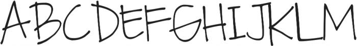 DJB Fan Girl ttf (400) Font UPPERCASE