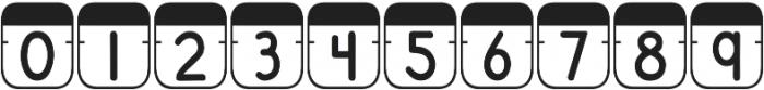 DJB File Folder Tabs otf (400) Font OTHER CHARS