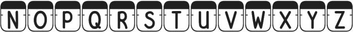DJB File Folder Tabs otf (400) Font UPPERCASE